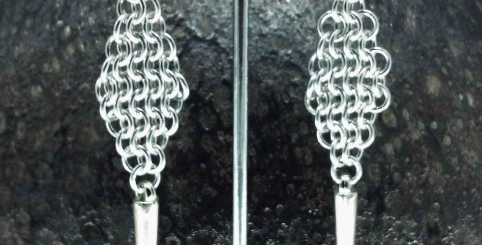 'Diamond Shard' Spiked Earrings