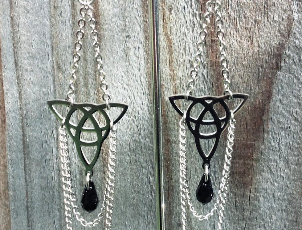 'Celtic Queen'  Chain Dangle Earrings