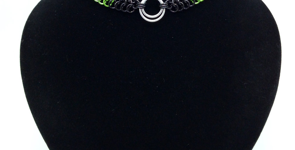 'Green With Envy' 'O' Ring Choker