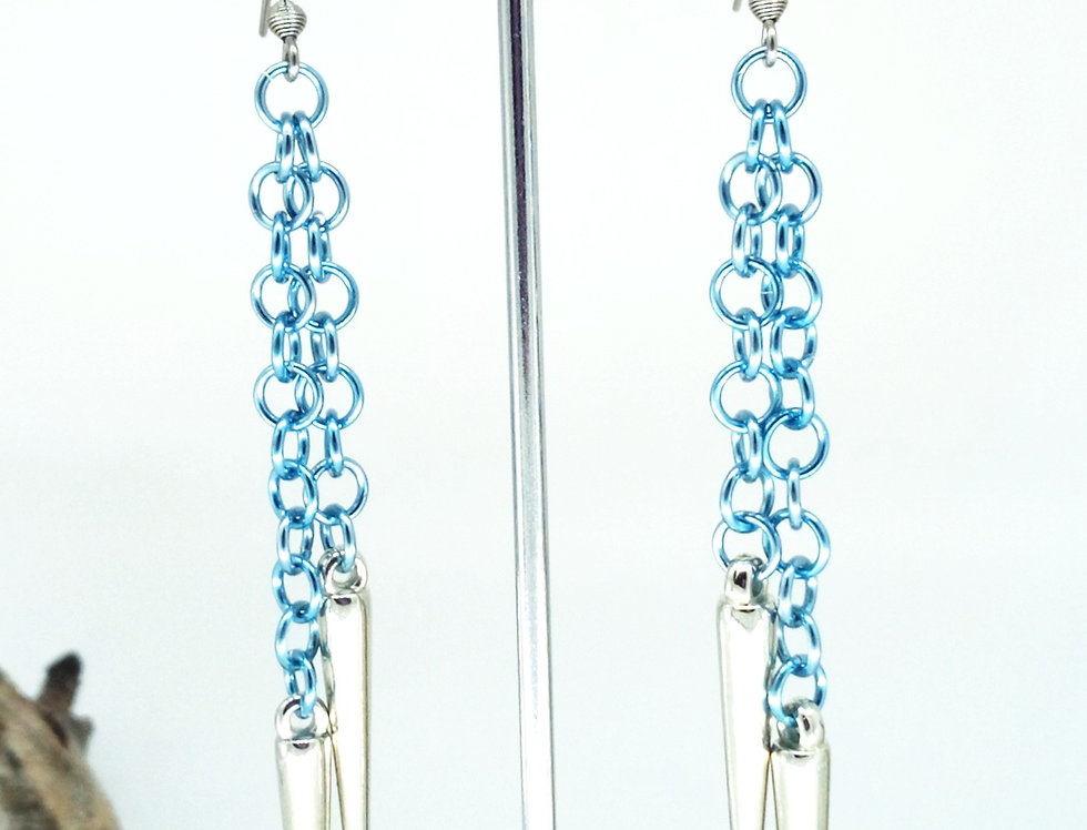 'Fire & Ice'  Earrings - Assorted Colours.