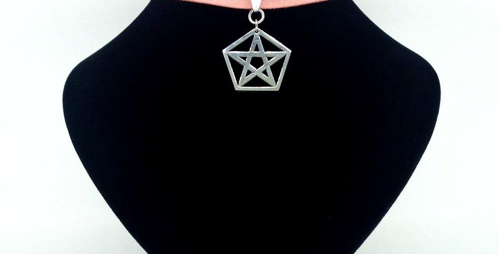'Pretty In Pink' Pentagram Choker