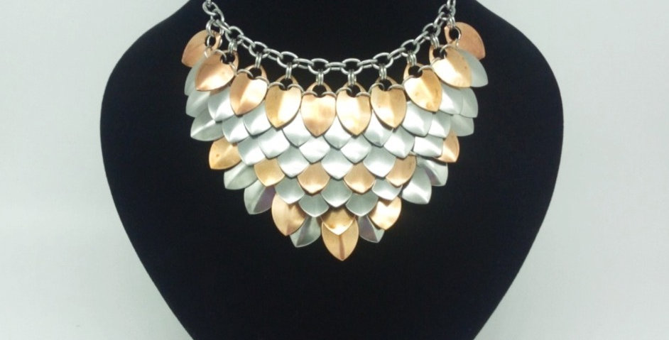'Boudicca Rising'  Scale Maille Choker
