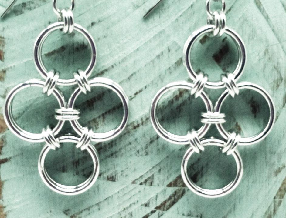 'Boho Beachy' Earrings - Silver