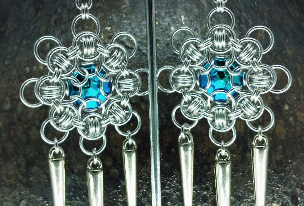 'Crystal Glacier Icicle Drop'  earrings