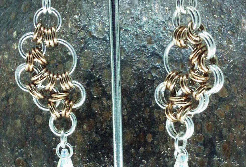 'Crystal Fan'  Earrings