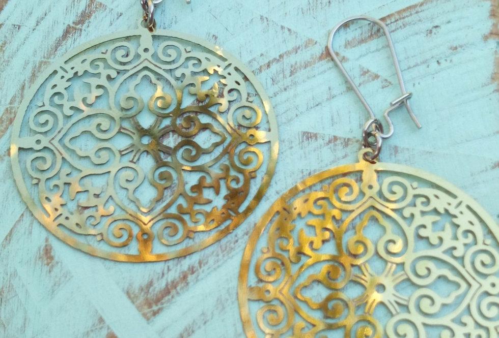 'Golden Goddess'  Filigree Earrings