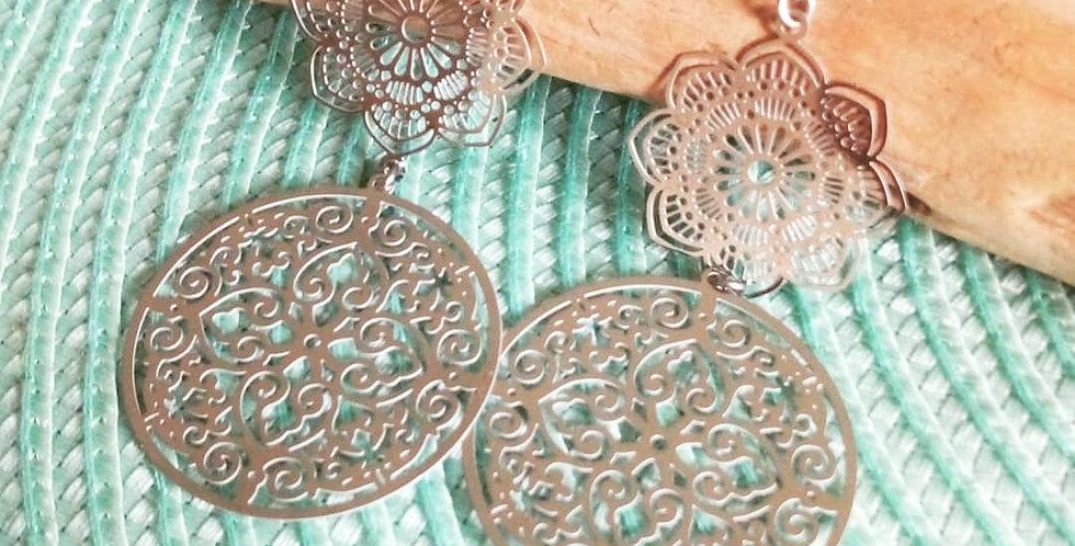 'Lux Double Mandala'  Earrings
