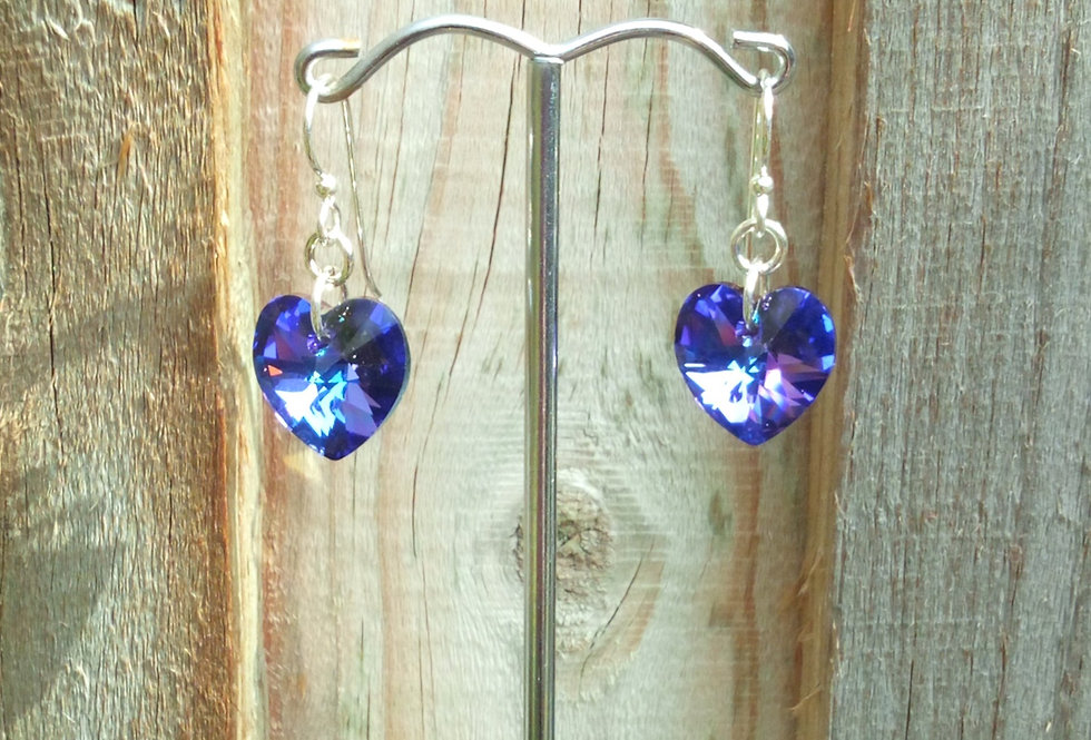 'Crystal Heart' Swarovski Earrings
