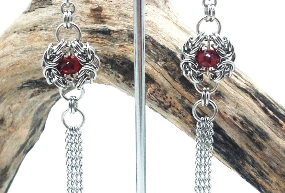 'Gothic Tassel'  Earrings
