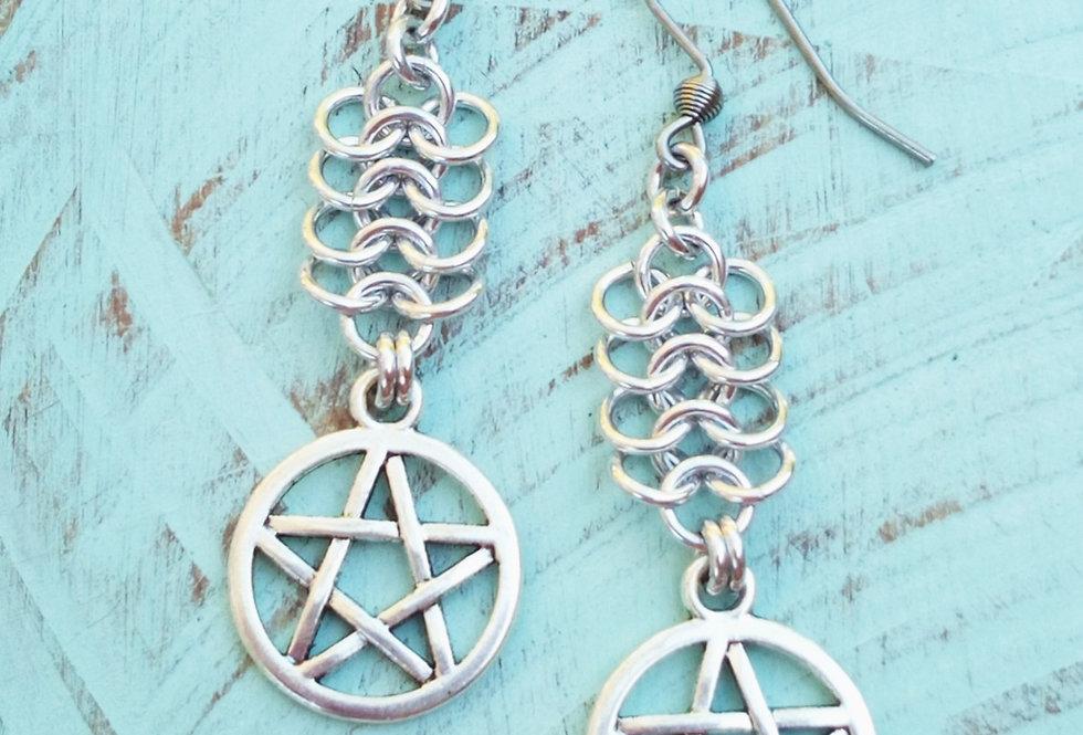 'Medieval Pentagram' Earrings