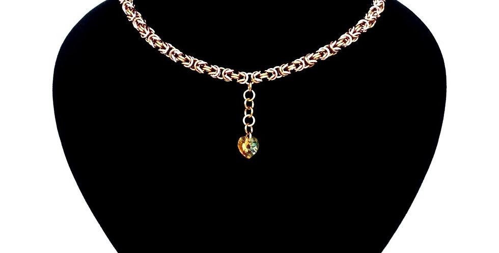 'Byzantine Crystal Drop' Necklace