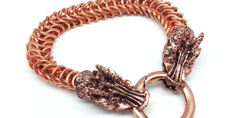 'Dragon Torc'  Bracelet - Copper