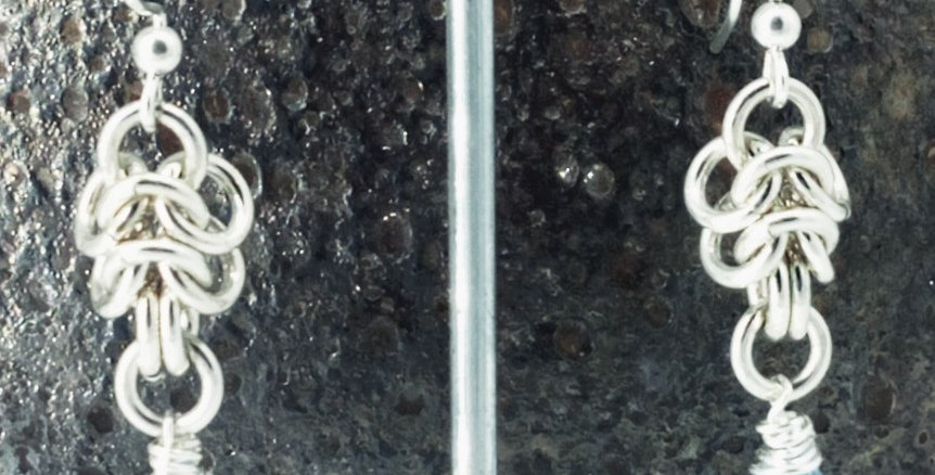 'Jewel Of The Sea' Pure Argentium Silver earrings