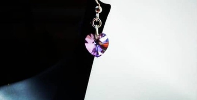 'Petite Crystal Heart' Swarovski Earrings