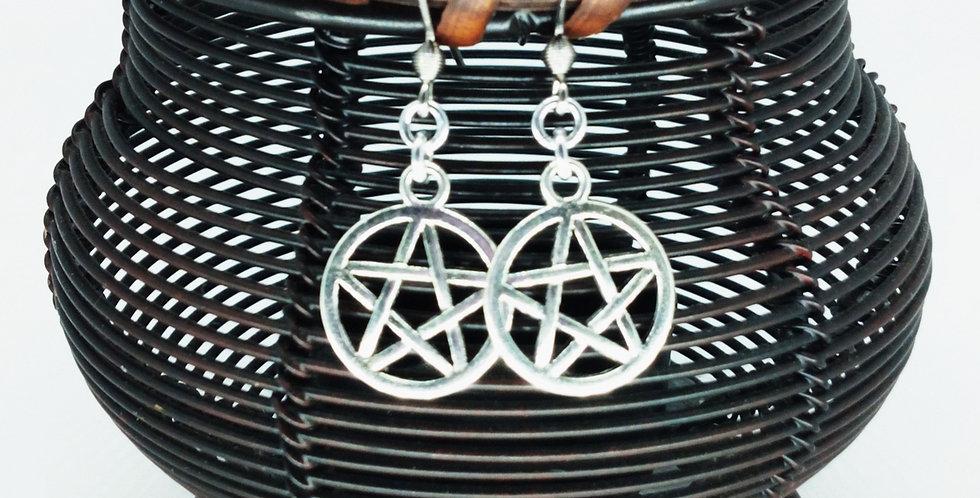'Simple Pentagram'  Earring