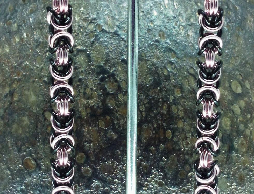 'Petite Byzantine'  Two Tone Earrings