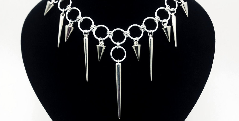 'Give Me Attitude'  Spiked Choker