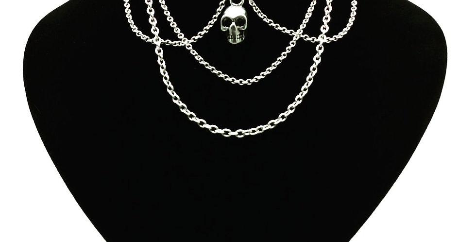 'Skull and Chain Drape' Choker