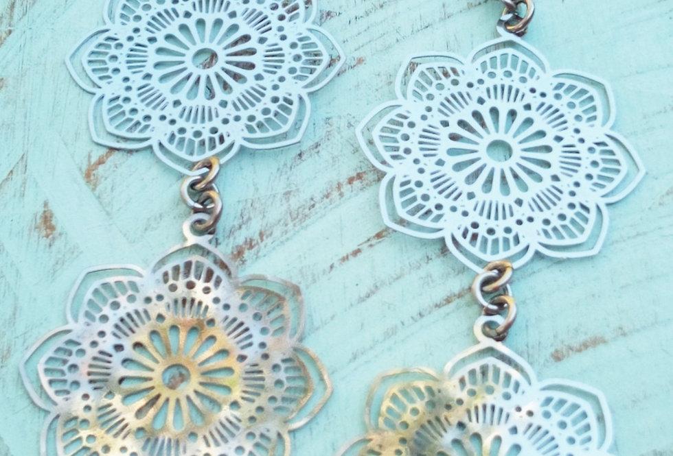 'Double Mandala'  Earrings