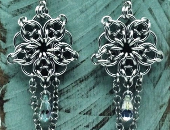 'Dreamy Celtic Crystal Star'  Earrings