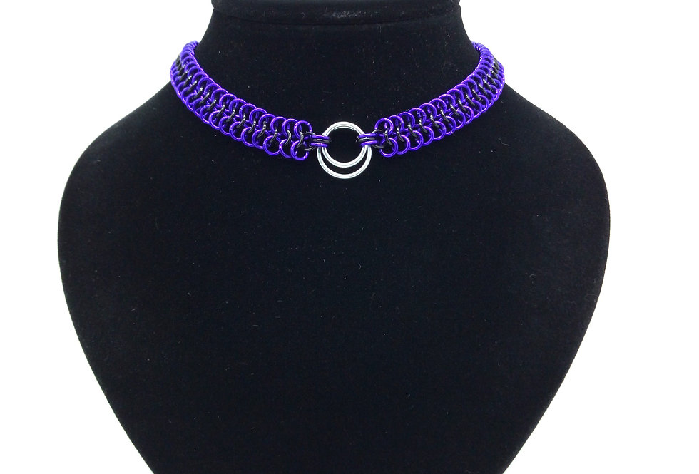'Purple Passion' 'O' Ring Choker