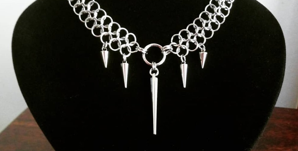 'Triple Spiked Armour'  Chainmaille Necklace