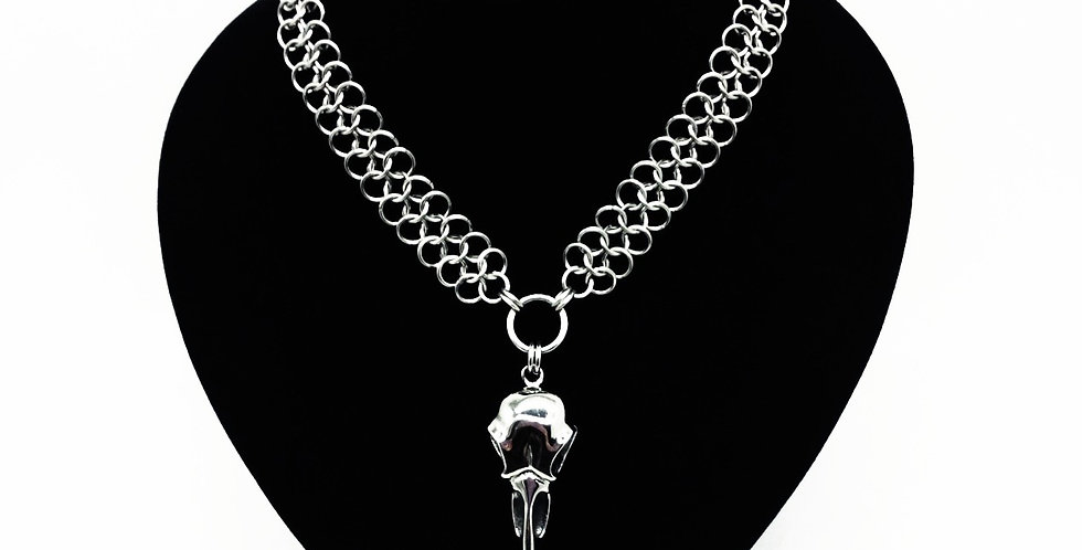 'King Raven'  Chainmaille Necklace