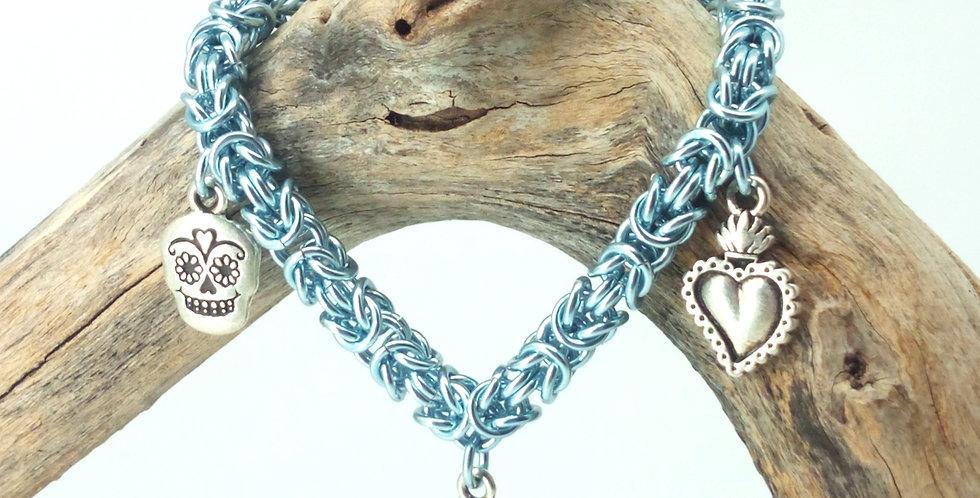 'Day of the Dead'  Charm Bracelet