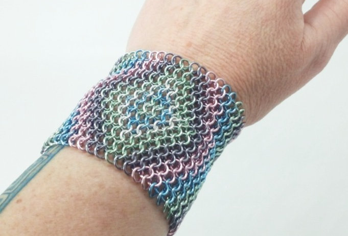 'Bohemian Lace Up Cuff'- Pastels