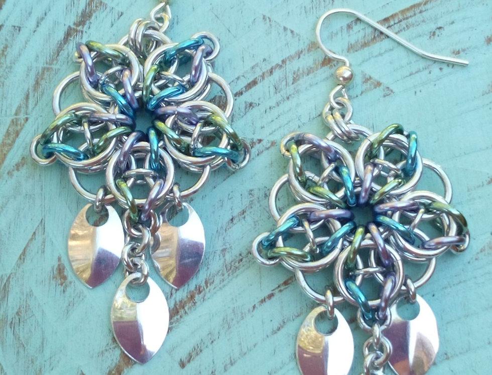 'Shimmering Mermaid Scales'  Earrings