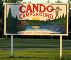 Cando Campground Sign