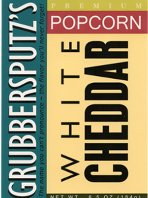 Grubbersputz's White Cheddar Popcorn