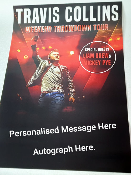 Autographed Poster (personalised)