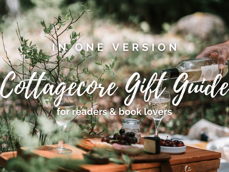 Gift Guide: cottagecore gifts for readers & book lovers