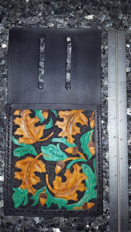 Arrow quiver or belt pouch black oak leaf