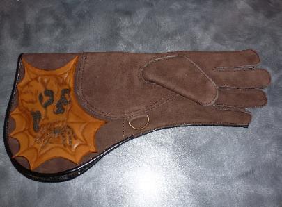 Custom glove skull design