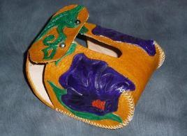 Floral purple hood protector