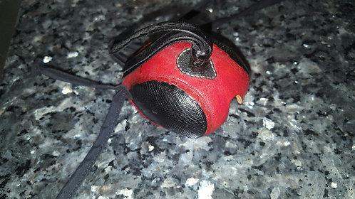 Item# LZ 5 Red center Blk eye lizard hood