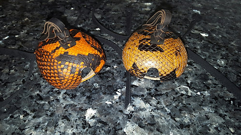 Item #SS-3 Orange & black snake skin hoods