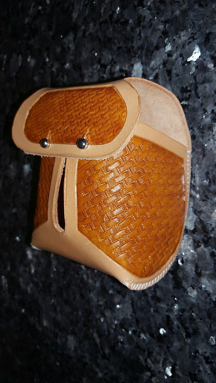 Nat & Brn basket weave hand tooled HP 2