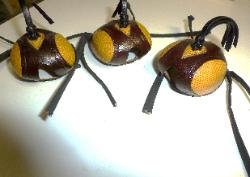 SS #19 Yellow and brown/blk lizard skin hood