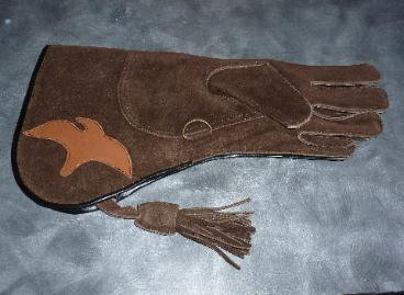 Insulated brown glove for RIGHT hand