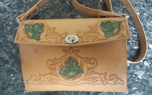 Hand tooled purse one of a kind