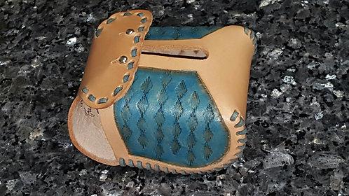 Aztec design in turquoise hood protector