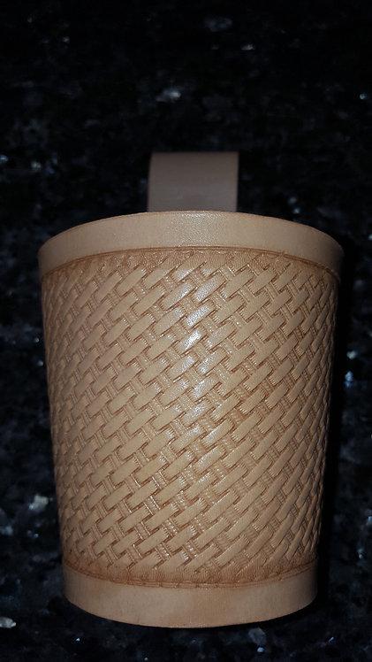 Nice basketweave hand tooled tid bit holder