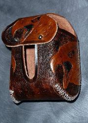 Leather screaming hawk hood protector