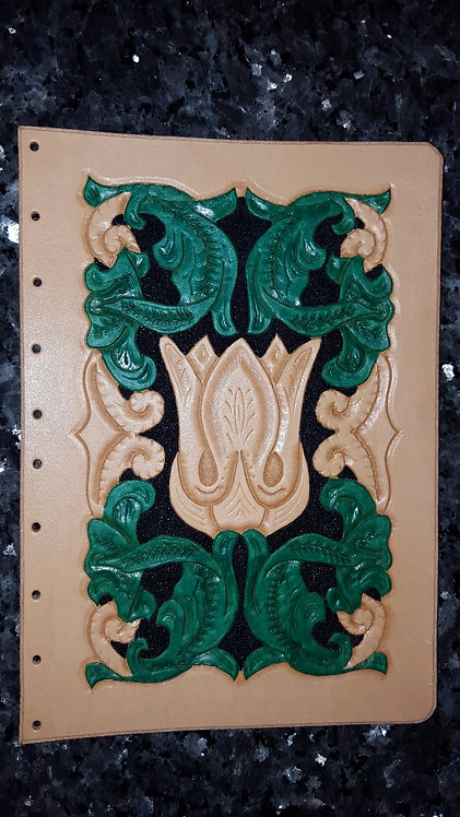 Journal Green and tan design