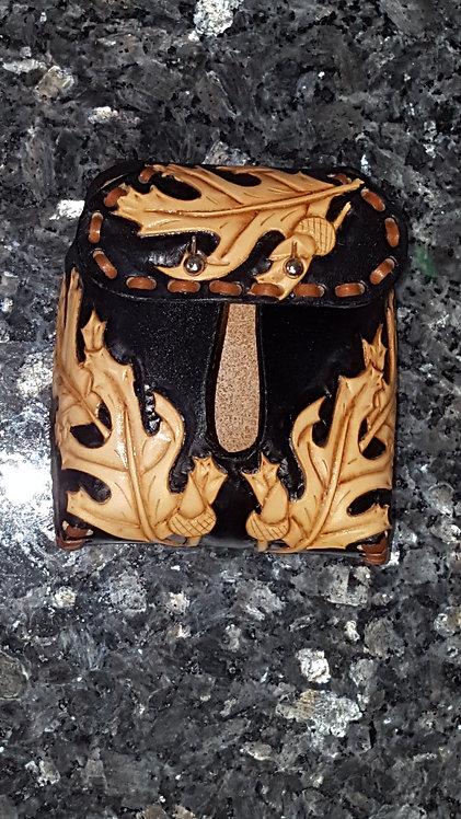 Black leaf design hood protector