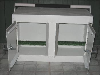Double sided Aluminum Transport Box