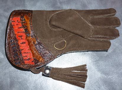 Custom glove falconry glove add your logo